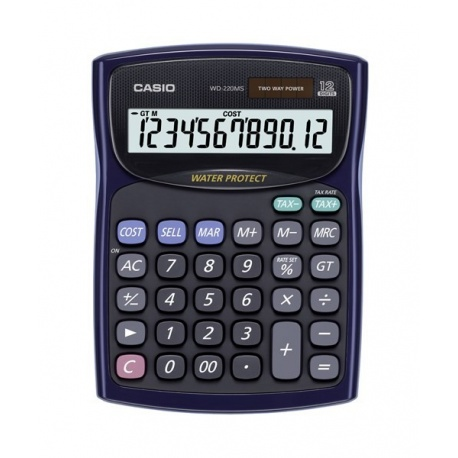 ماشین حساب کاسیو مدل  WD-220MS-BU